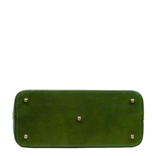 Geanta dama piele verde kaki GF2723