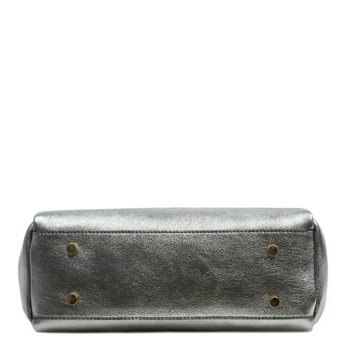 Geanta piele argintie GF2736
