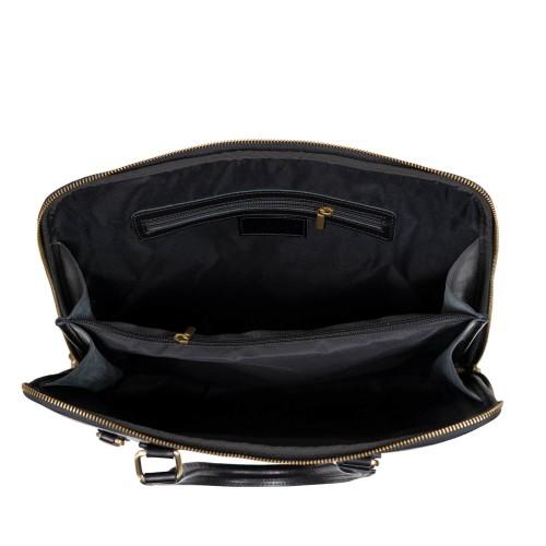Geanta piele neagra tip servieta GF2760