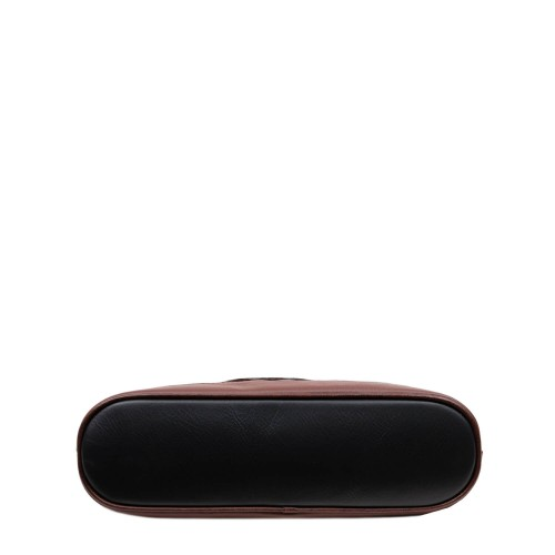 Geanta piele neagra/maro GF2761