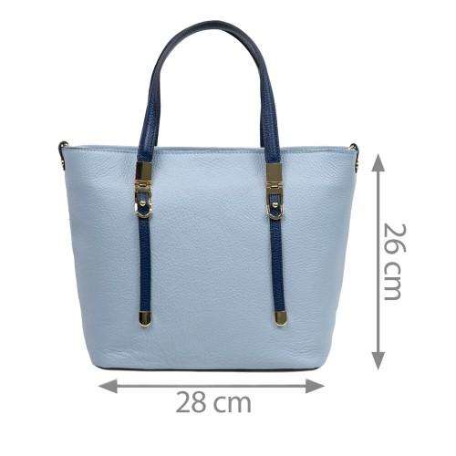 Geanta piele bleu/ bleumarin GF2775
