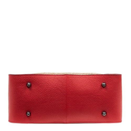 Geanta dama piele rosie cu glitter GF2785