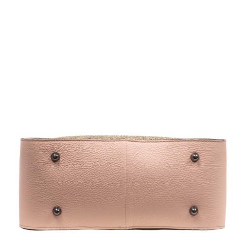 Geanta dama piele roz pal cu glitter GF2787