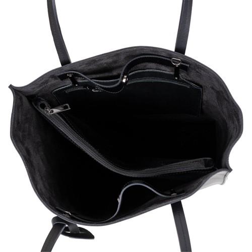 Geanta dama piele neagra GF2792