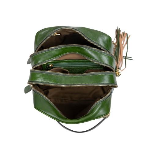 Geanta dama piele verde GF2818