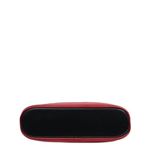 Geanta piele negru/rosu GF2867