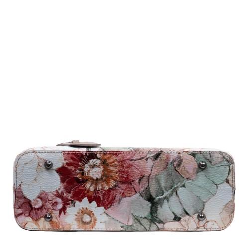 Gentuta piele taupe imprimeu flori mari GF2899
