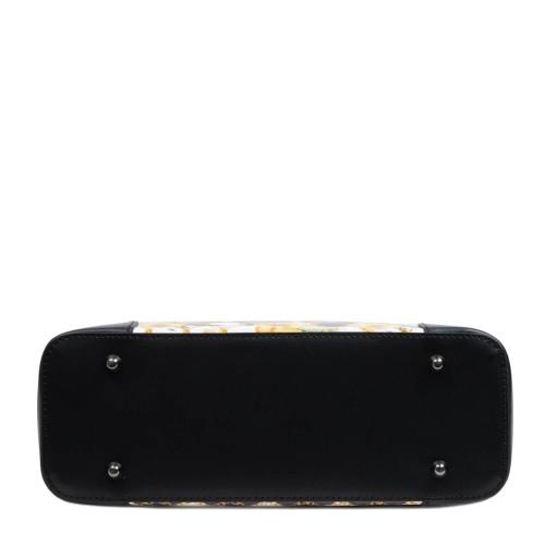Geanta piele neagra cu imprimeu GF2949