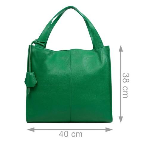 Geanta piele verde GF2958