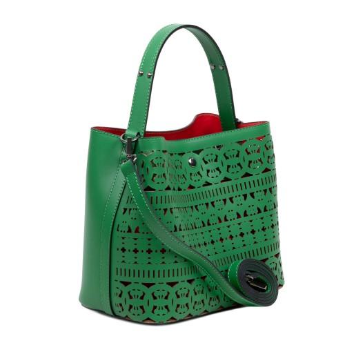 Geanta dama piele verde GF2964