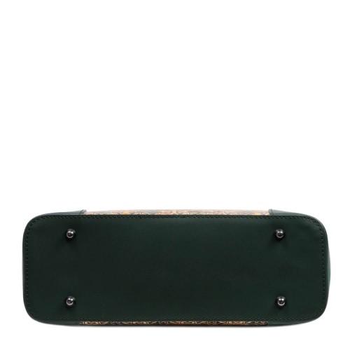 Geanta piele verde inchis /paisley GF2967