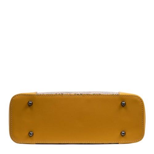 Geanta piele galben mustar /paisley GF2968