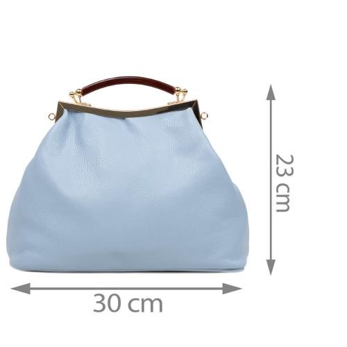 Geanta dama piele albastru deschis GF2973