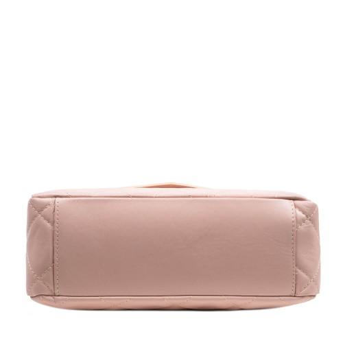 Geanta dama piele roz prafuit matlasata GF3026