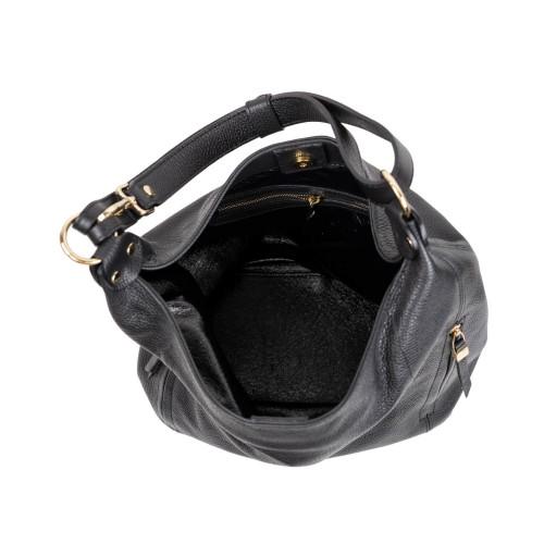 Geanta piele neagra GF3123