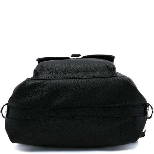 Geanta piele neagra tip rucsac GF318