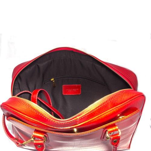 Geanta piele rosie GF335