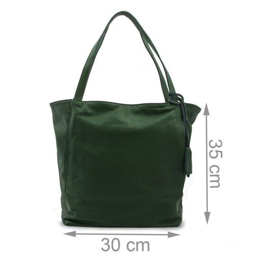 Geanta piele verde GF351