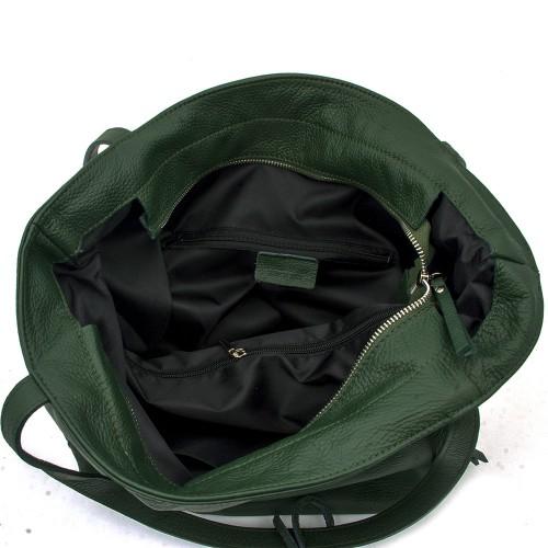 Geanta piele verde GF351 Genti Dama