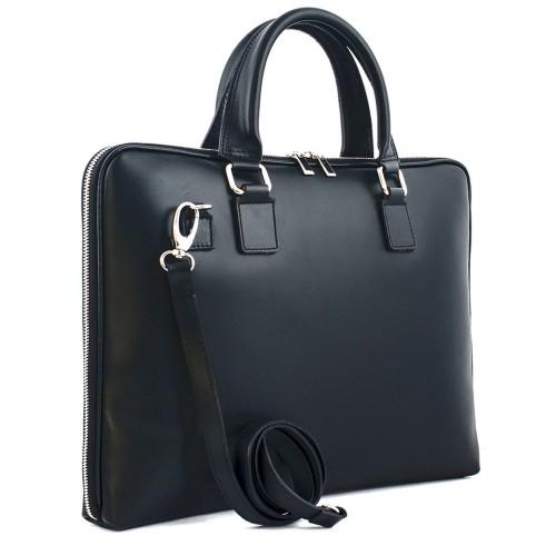 Geanta piele neagra tip servieta GF360