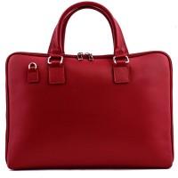 Geanta piele rosie tip servieta GF362 Genti Femei
