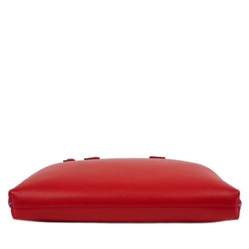 Geanta piele rosie tip servieta GF362
