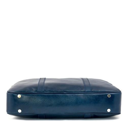 Geanta piele bleumarin tip servieta GF374