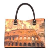 Geanta piele maro Colosseum GF380 Genti