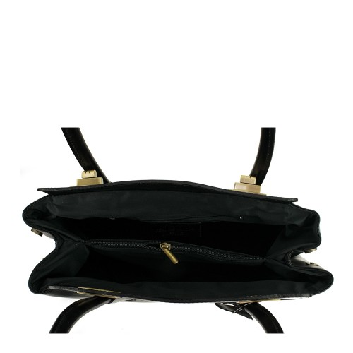 Geanta piele neagra GF385