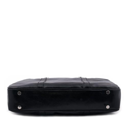 Geanta piele neagra tip servieta GF410