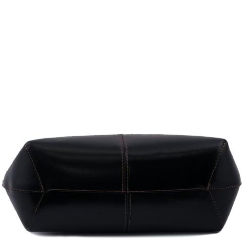 Geanta piele negru cu maro GF423