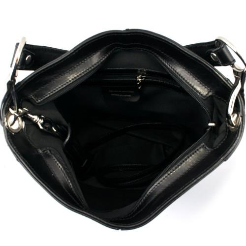 Geanta piele neagra GF432