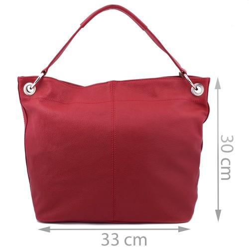 Geanta piele rosie GF439