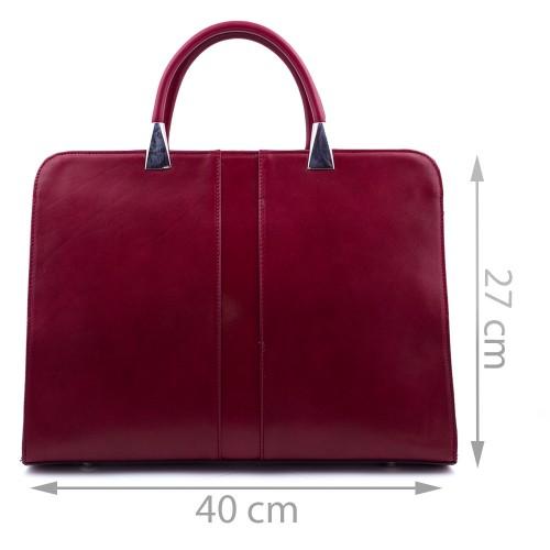 Geanta piele rosie GF459