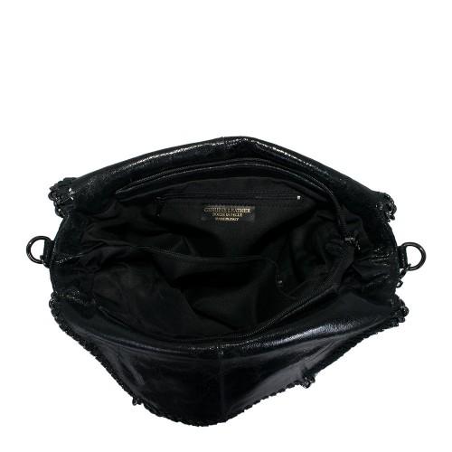 Geanta piele neagra  GF502