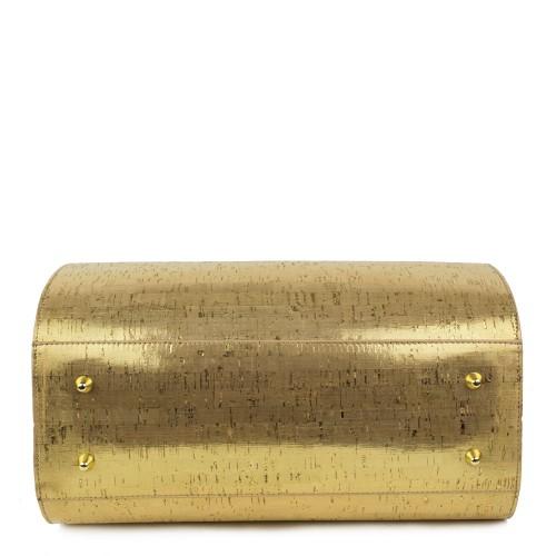 Geanta piele auriu/maro GF507