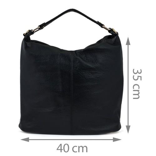 Geanta piele neagra GF549