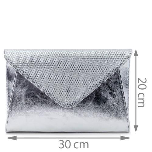 Plic piele argintiu GF553 Gentute si Plicuri