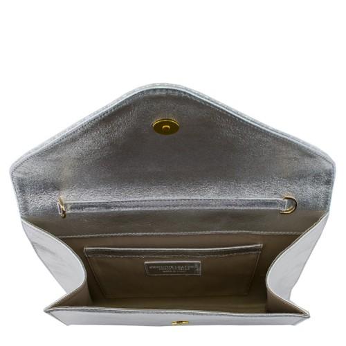 Plic piele argintiu GF553