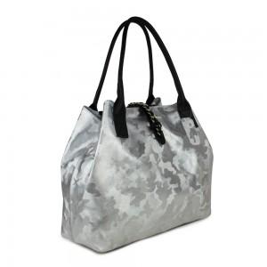 Geanta piele silver cu imprimeu GF559- Genti femei