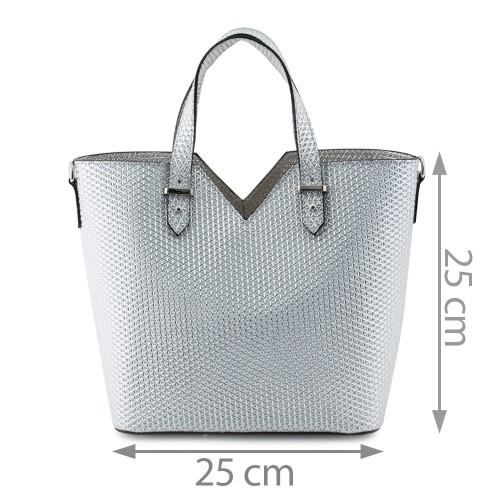 Geanta piele silver GF566