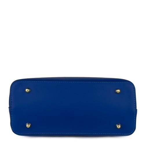 Geanta piele albastra GF588 - Genti femei