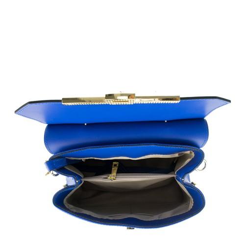 Geanta piele albastra GF588