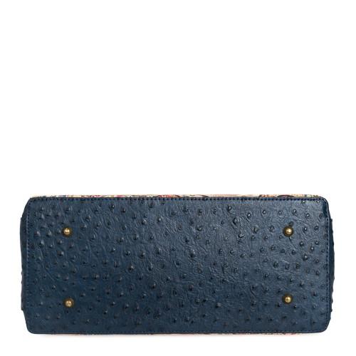 Geanta piele imprimeu paisley/ bleumarin GF620 Genti