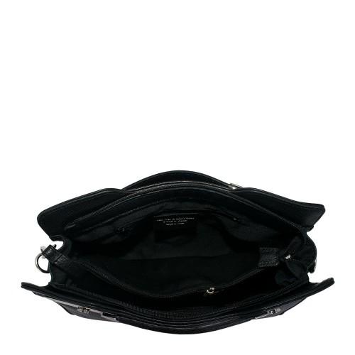 Geanta piele neagra GF638