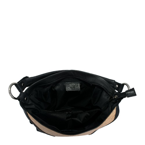 Geanta piele imprimeu paisley/ negru GF657