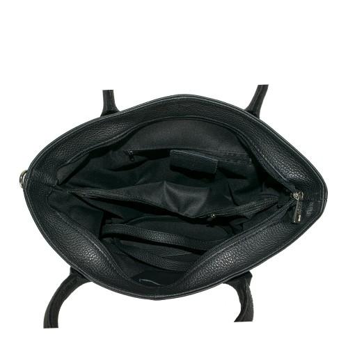 Geanta piele neagra GF678