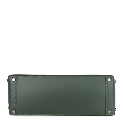Geanta piele verde inchis GF698 Genti Dama