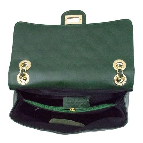 Gentuta piele verde inchis GF701
