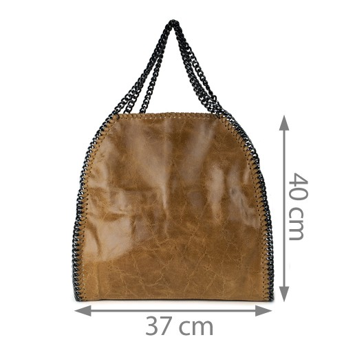 Geanta piele maro deschis GF707